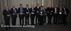 Coin of the Year Award 2012 winnaars groepsfoto