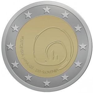 2 Euro Slovenie 2013 800e verjaardag van het eerste bezoek aan de grotten van Postojna