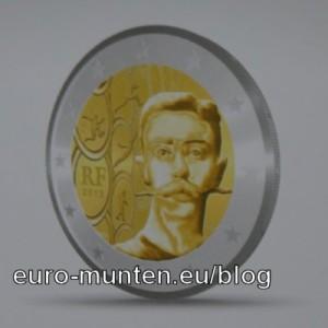 2 Euro herdenkingsmunt Frankrijk 2013 - 150 verjaardag Pierre de Coubertin