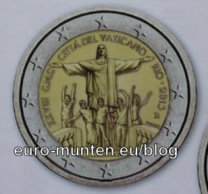 2 Euro Herdenkingsmunt Vaticaanstad 2013- 28ste wereld jongerendagen in Rio de Janeiro