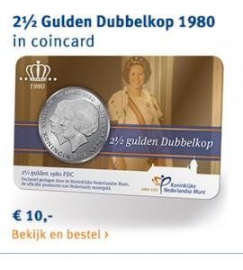 2,5 Gulden Dubbelkop 1980