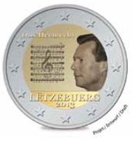 2 Euro herdenkingsmunt Luxemburg 2013 volkslied van Luxemburg