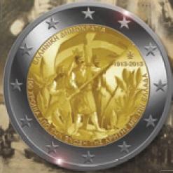 2  Euro herdenkingsmunte-griekenland 2013 100 jaar Kreta bij Griekenland