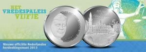 5 Euro Nederland 2013 - 100 Jaar Vredespaleis