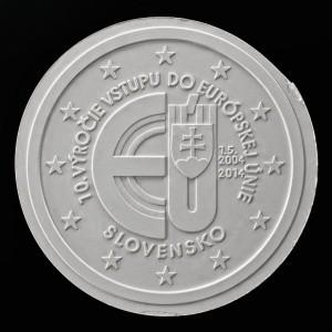 2 Euro herdenkingsmunt Slowakije 2014 10 jaar Lidmaatschap Europese Unie