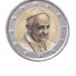 1 Euro Vaticaanstad Paus Franciscus 2014