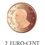 2 Cent Vaticaanstad Paus Franciscus 2014