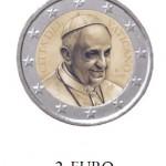 2 Euro Vaticaanstad Paus Franciscus 2014