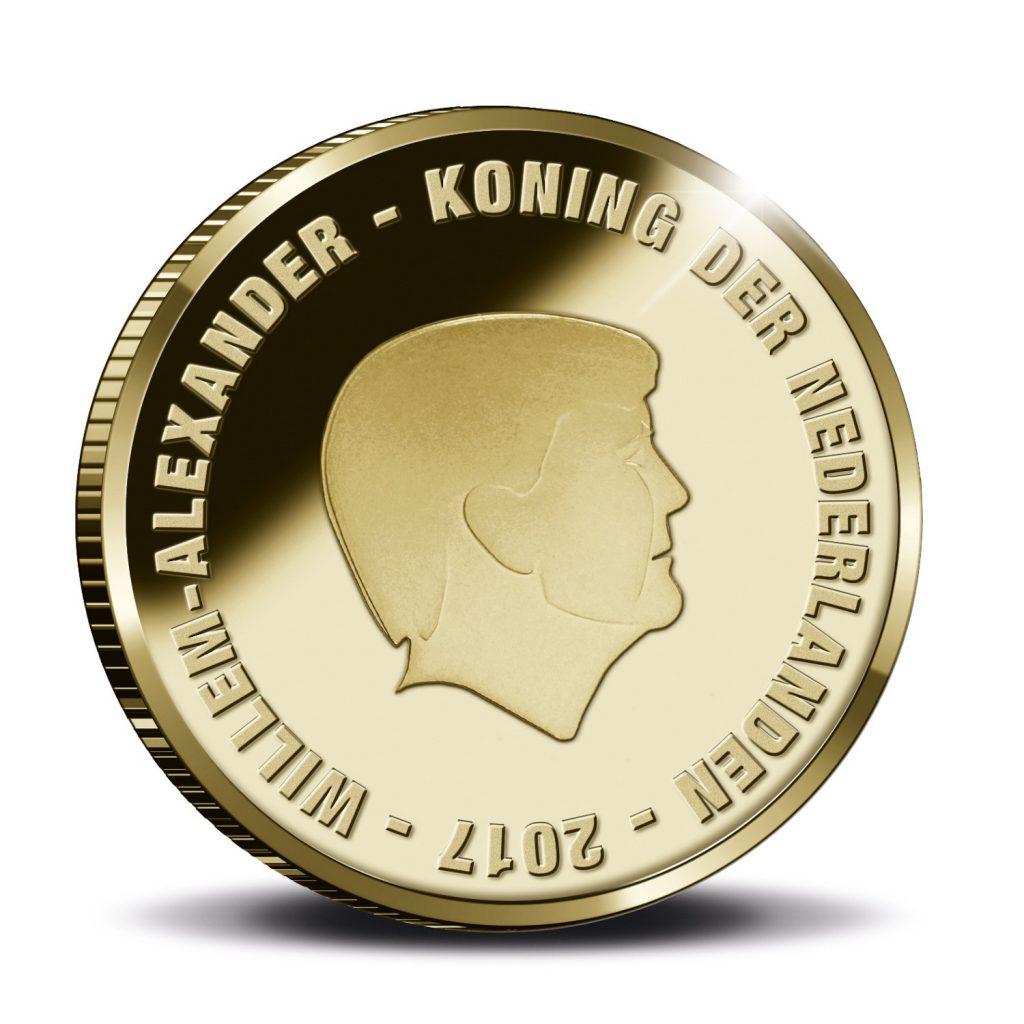 Johan Cruijff Tientje goud voorzijde